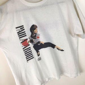 Vintage Tops - VTG 1990 Paula Abdul T-Shirt Slight Crop Fit